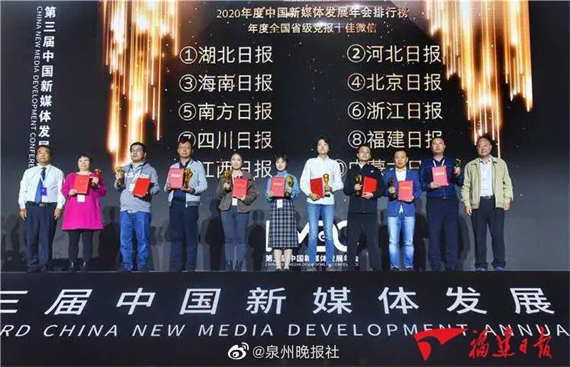 恭喜!福建日报微信号全国第八