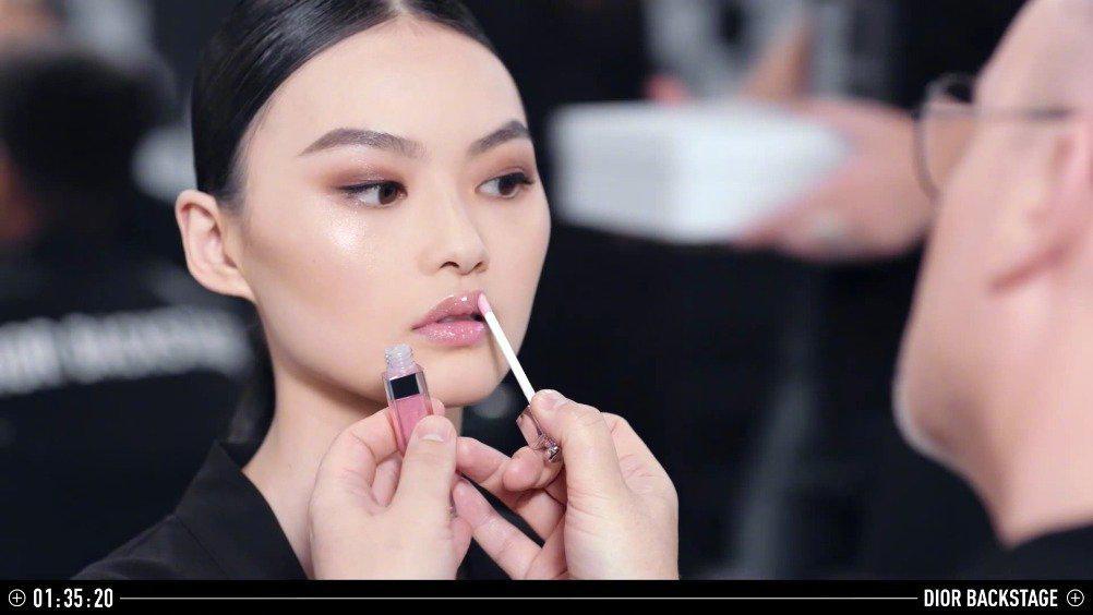 贺聪演绎Dior Backstage彩妆,仙女聪好漂亮~