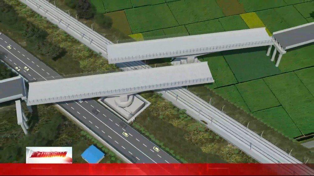 """""""空中芭蕾""""! 德州首座跨铁路及国道转体桥华丽""""转身"""""""