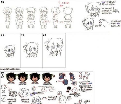 国产动画电影《罗小黑战记》公开最新人设图和场景手稿