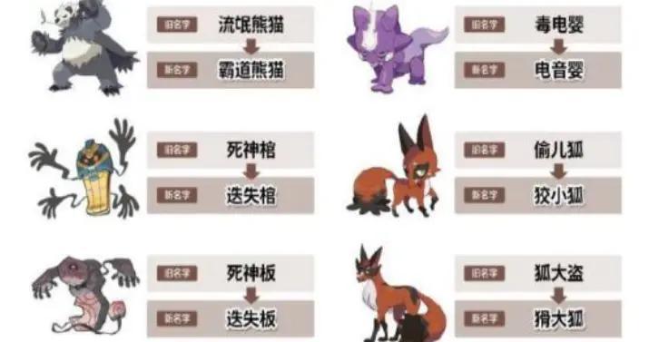 宝可梦官方:部分宝可梦中文名变更,国行NS终于要有用了?