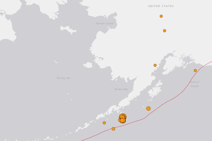 阿拉斯加7.5级强震后余震频发 5级以上余震达6次