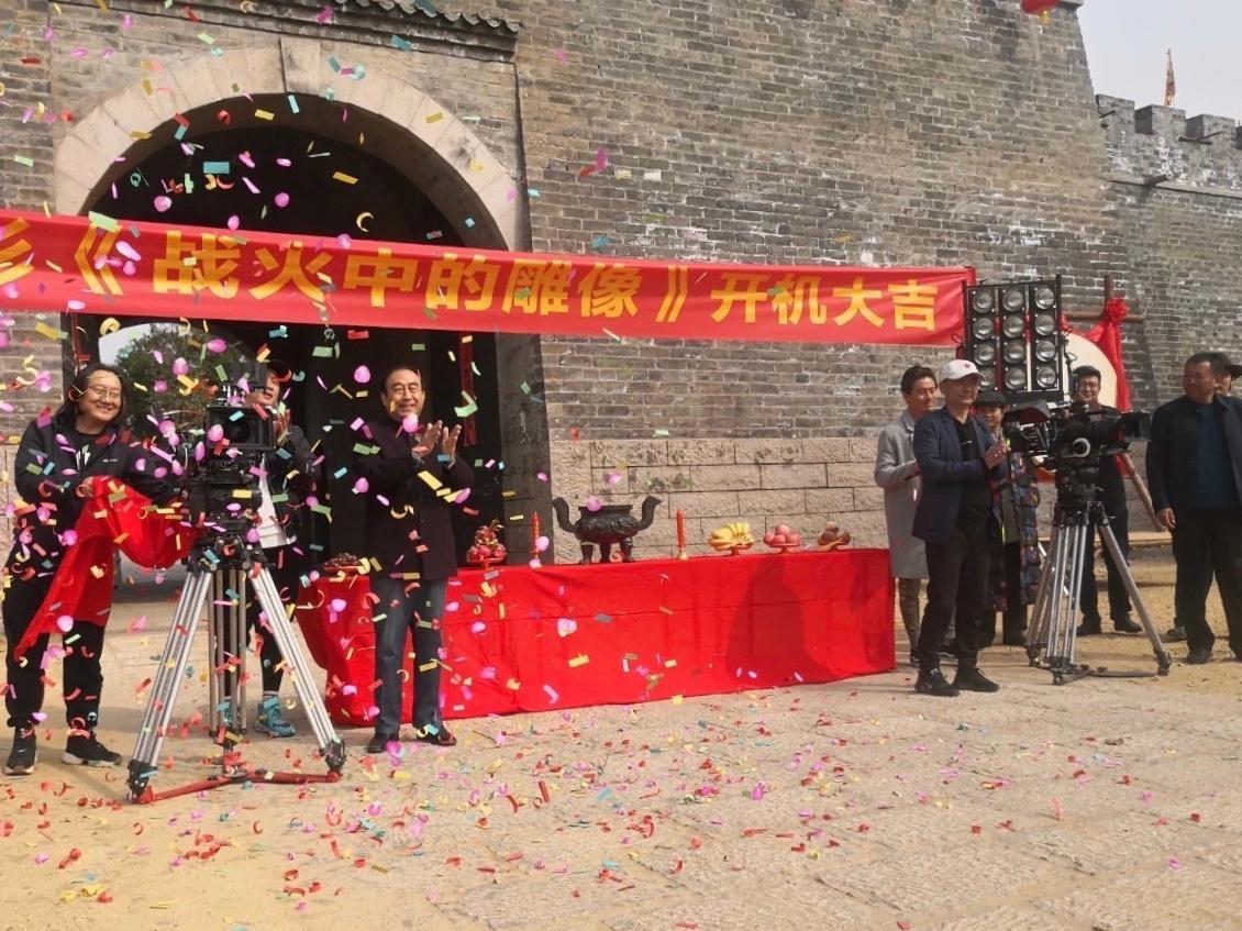 建党100周年献礼影片《战火中的雕像》在红嫂家乡开拍
