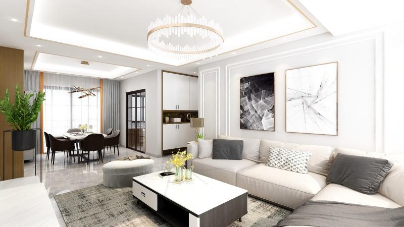 花18万元装修这套140平米的四居室,现代风格,给大家晒晒!