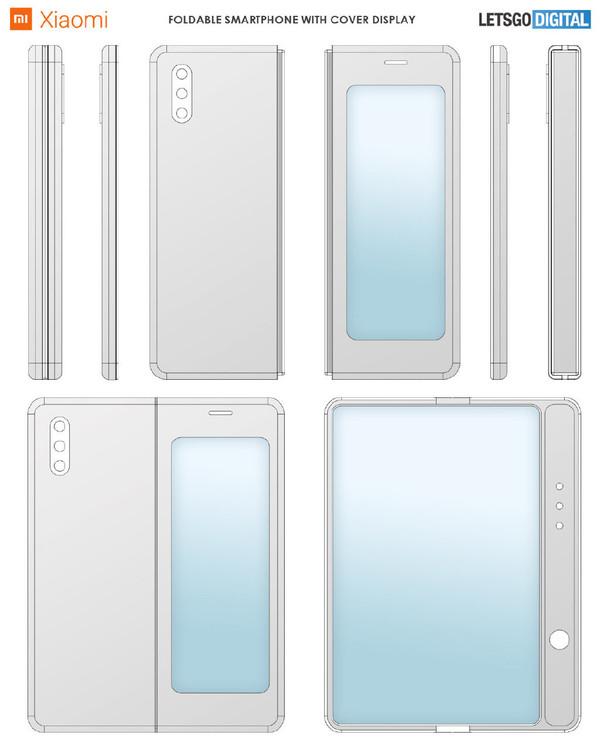 小米内折式折叠屏手机专利出炉!两块屏幕边角略圆