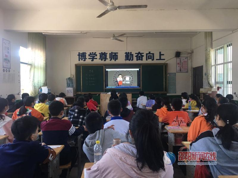 """新邵县潭溪镇中学开展法制教育讲座 让青春永不""""毒""""行"""