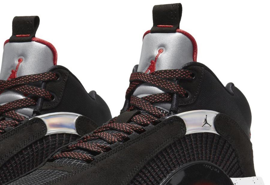 经典银色鞋舌来了!黑红 Air Jordan 35 首度亮相