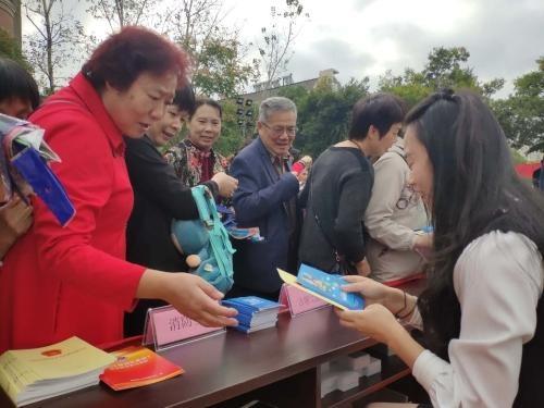 慈溪市古塘街道开展消防安全宣传活动