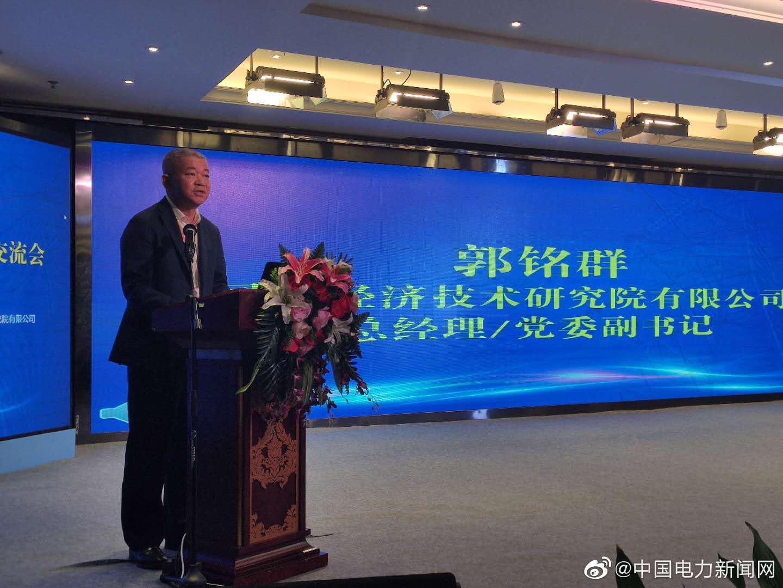 国网经济技术研究院总经理、党委副书记郭铭群致辞