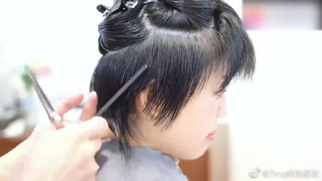 日系短发修剪,适合圆脸的小姐姐,超瘦脸