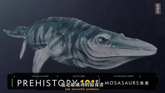 自制剪辑:白垩纪时期横行海洋的海生爬行动物沧龙!