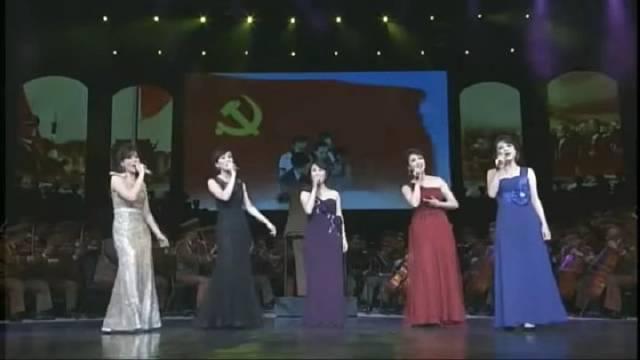 朝鲜军乐团汉语演唱中国歌曲合集……