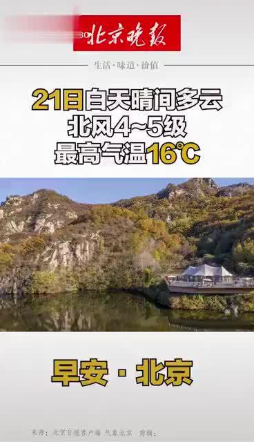 早安北京|21日白天晴间多云,北风4~5级,最高气温16℃