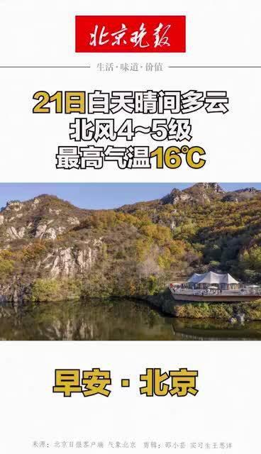 早安北京 | 21日白天晴间多云,北风4~5级,最高气温16℃