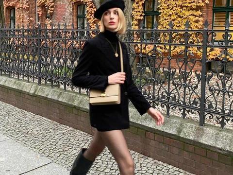 肤白貌美大长腿的小姐姐,演绎迷人的法式街头风,亮点超多!