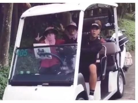 罗志祥晒视频,在高尔夫球场玩乐心情大好,与阿姨合影消瘦明显