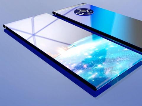 华为Mate40Pro概念图:上下瀑布屏花洒五摄,能干掉iPhone12吗