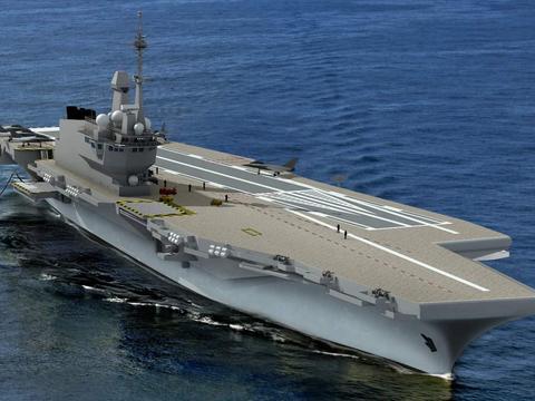 法国下一代航母确定开建,将采用核动力+电磁弹射,排水量超7万吨