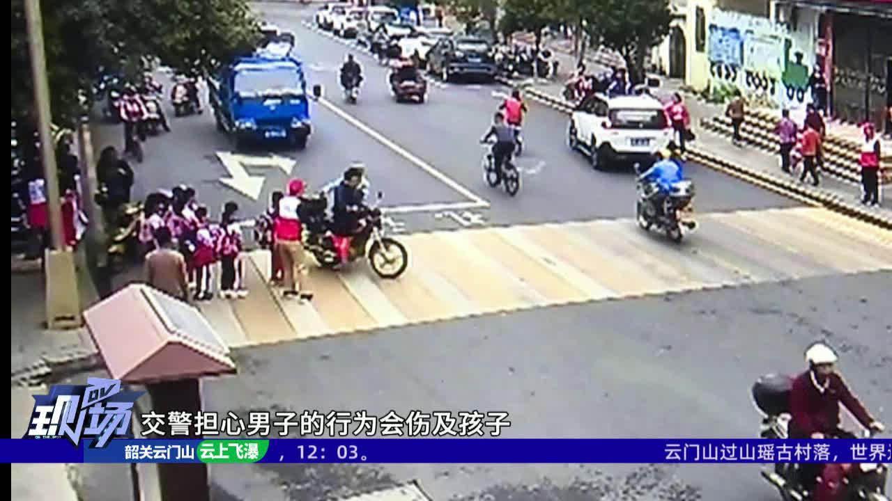 男子驾驶无牌摩托车被拦扇交警耳光 打人者被刑拘