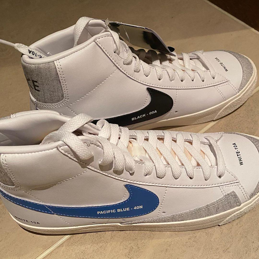 藤原浩晒出神秘新 Blazer Mid,白色牛巴革塑造鞋面……