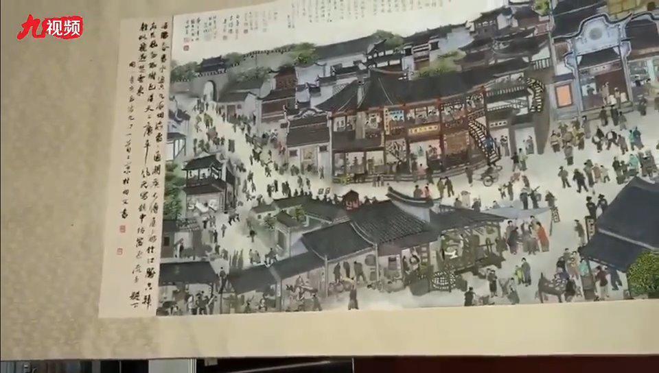 """蜗居陋室两年多,他画出了九江版""""清明上河图""""!"""