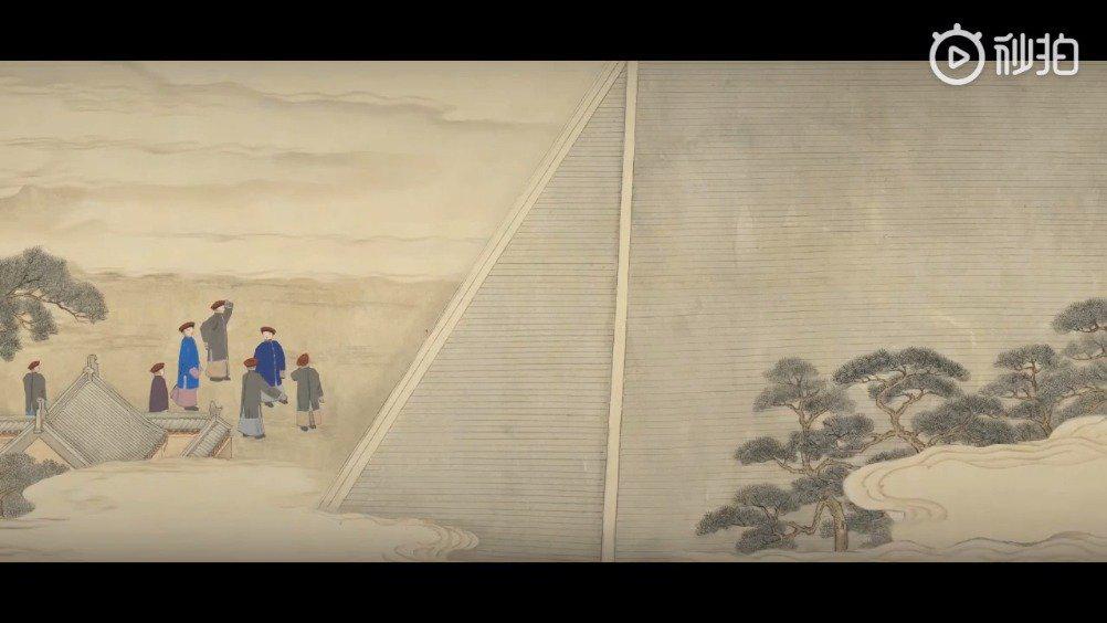 台北故宫博物院前些年制作的《日月合璧五星联珠图》小动画……