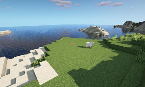 我的世界:简单好看的海景房,再也不用担心材料不够