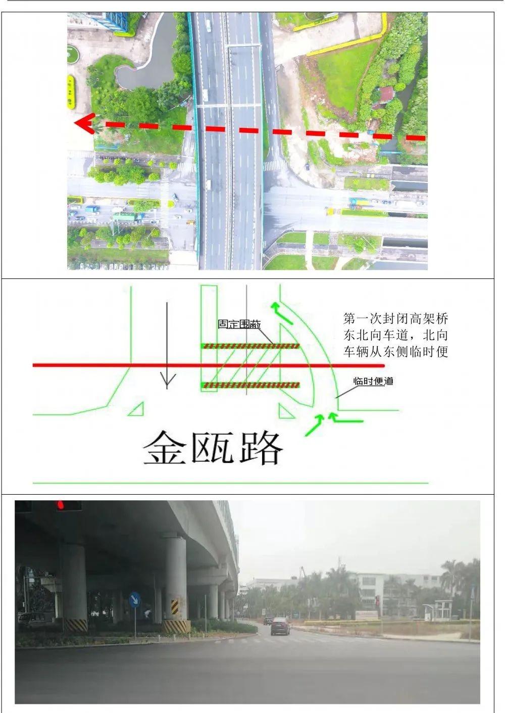 出行提示:江门市区这些路段有施工,龙湾入口封闭一条车道