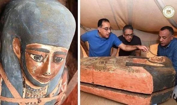 埃及考古学家又发现大量2500年前石棺,位于古埃及王国首都所在地