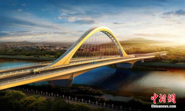 """古交火山二桥主体完工 将架起""""西山晓月""""新地标"""