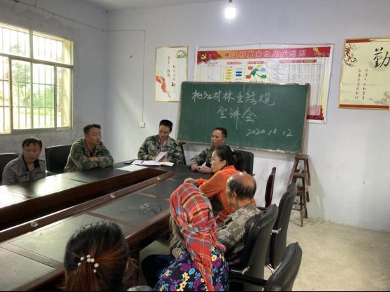 桃江管理站深入辖区开展林业法规宣讲活动