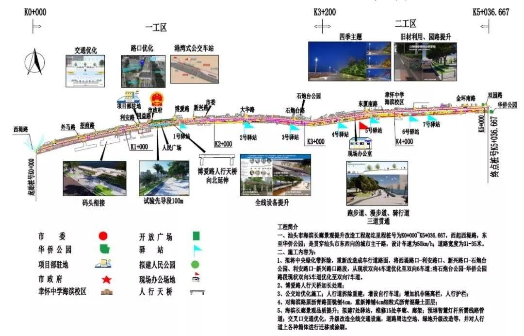 海滨长廊景观提升方案效果图出炉 总投资3.2亿工期8个月