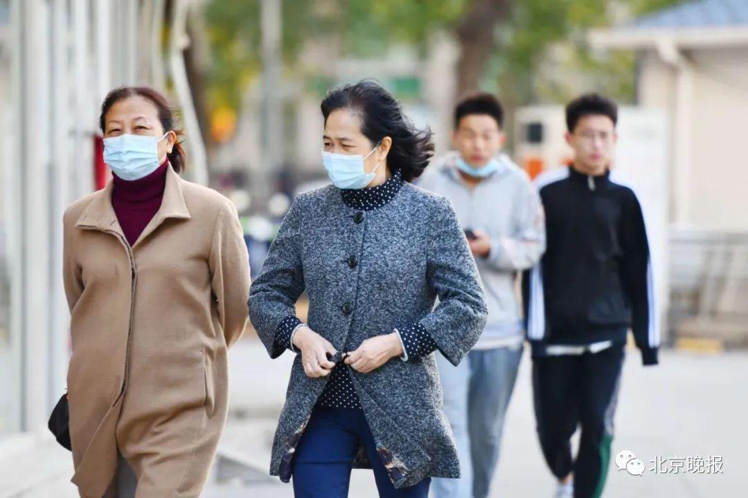 北京大风蓝警中,阵风达8级!什么时候入冬?