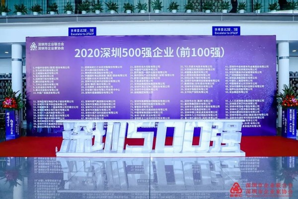 """蓝凌上榜""""2020深圳500强企业"""""""