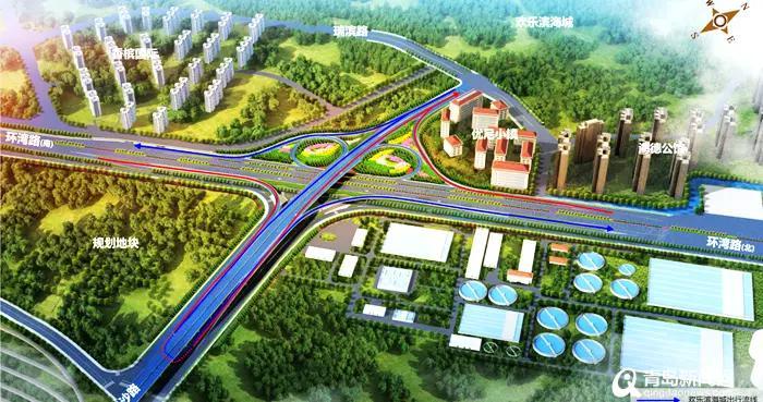 环湾路-长沙路立交桥本月开建 主线南北全长1140米