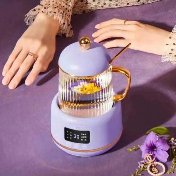 一键式操作的养生壶!烧热水、煮花茶、奶茶都行,方便又好用