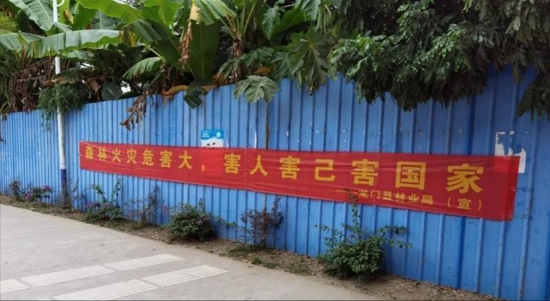 为预防和遏制森林火灾,龙门县发布禁火令