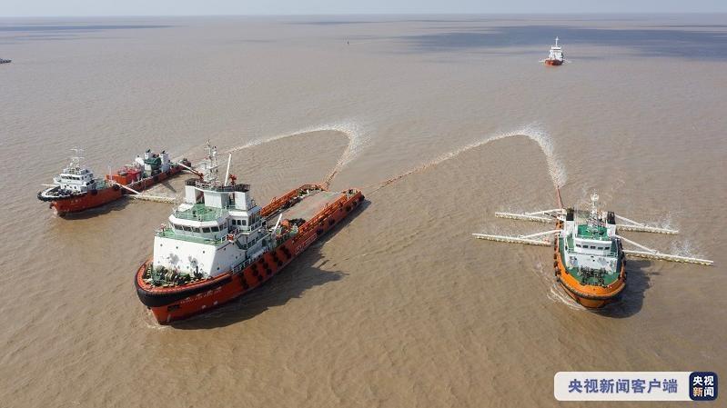 危化品船舶碰撞发生泄漏如何处置?上海开展了这场应急演习