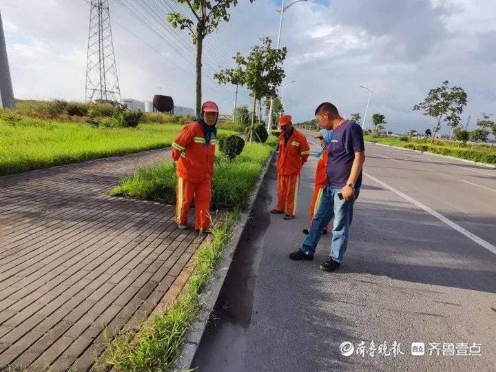 东营港经济开发区综合行政执法中心开展环境卫生整治行动