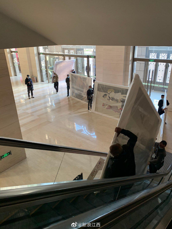 2020新余傅抱石全国中国画作品展开始布展