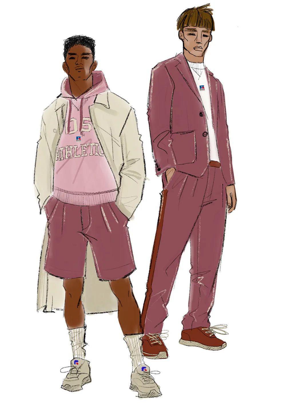 时尚品牌BOSS最近公布将与美国标志性品牌Russell