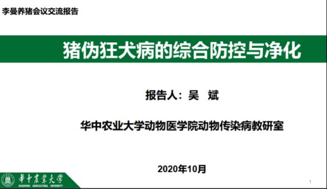 华中农业大学吴斌:猪伪狂犬病的综合防治与净化