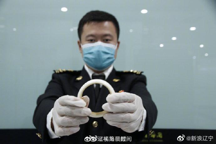 大连旅客携带象牙制品进境被查获