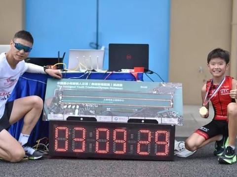 12岁男孩3小时完成铁人三项:拥有内驱力,外能胜人内能克己