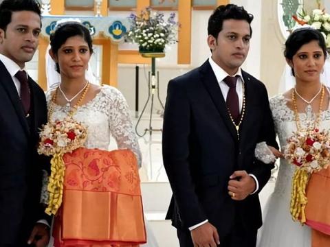 印度双胞胎兄弟娶双胞胎姐妹,婚礼上出现7对双胞胎,轰动全国