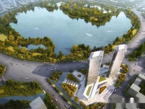 """商丘又将诞生一地标建筑,160米的""""菱形双子塔"""",新的漂亮景观"""