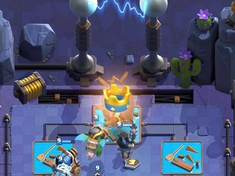 皇室战争双倍电磁炮挑战,这套卡组打得对方没脾气