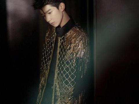 王源鎏金刺绣夹克亮相活动,尽显矜贵少年气质,宛如城堡中的王子
