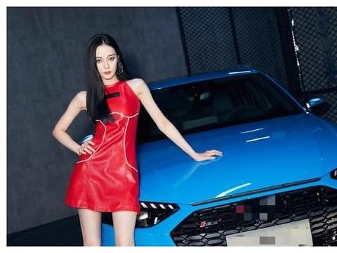 热巴新造型曝光,红色皮裙被群嘲太丑还土,网友:按照杨幂P的?