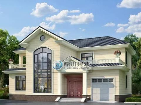 15米×11米农村二层别墅,带堂屋+车库,实用美观大热户型